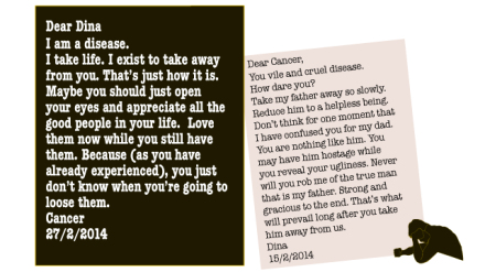 Dear Dina, A letter from Cancer