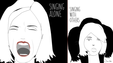 Singing alone, singing with others